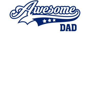 Awesome Dad Blue