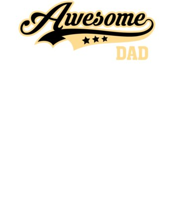 Awesome Dad Yellow